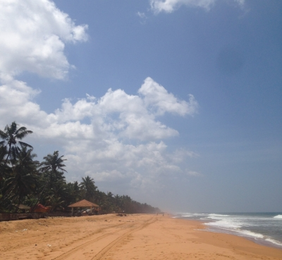 All the hard work felt worth it when I stepped onto the sand in Thiruvananthapuram